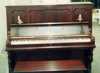 upright piano restoration photo after