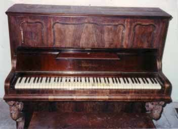 upright piano restoration before photo